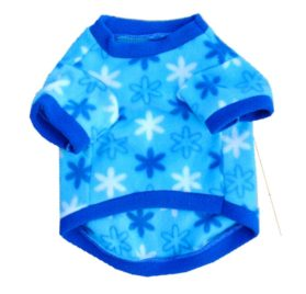 Commoditier Blue Snow Star Fleece Shirt Dresses for Dogs Pet Clothes for Small Dog Puppy Clothing - 2