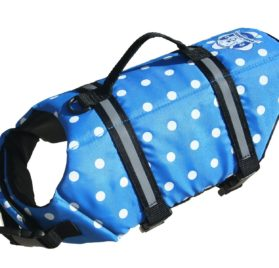Paws Aboard Doggy Lifejacket Blue Polkadot Extra-extra small