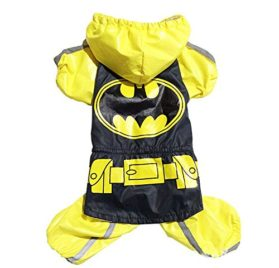 Dogloveit Superhero Style Waterproof Raincoat Dog Costume For Pet Puppy - 1