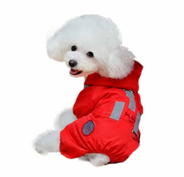 Outtop Pet Dogs Cute Stylish Hooded Waterproof Raincoat - 1