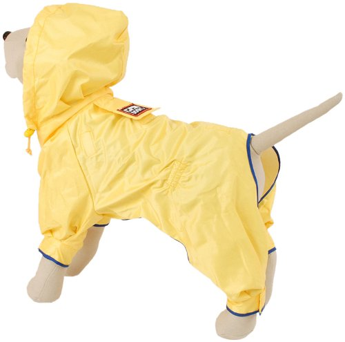 Petego Dogrich Rainforest Dog Raincoat, Yellow