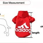 Angel Mall Adidog Hoodie Pet Clothes Dog Sweater Puppy Sweatshirt Warm Small Coat Christmas Gift 1-pc Set (Grey) - 7