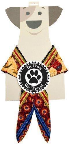 In Dog We Trust Chili Pepper Bandana, X-Small, Taupe - 1