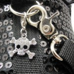 Peti Devil Wing with Skull Charm Harness and Leash Set - Color: Black 3