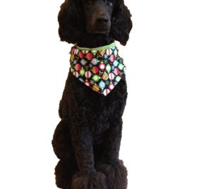 "Christmas Ornaments Dog Bandana (S) Ties on 9"" - 10"" Neck - 2"