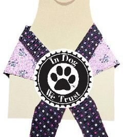In Dog We Trust Pirategirl Bandana, X-Small, Pink - 1
