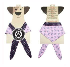 In Dog We Trust Pirategirl Bandana, X-Small, Pink - 2