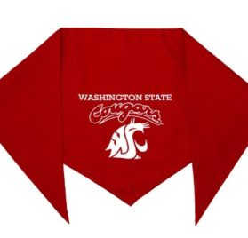 "Washington State Cougars Bandana for Dogs (S) Ties on 9"" - 10"" neck"