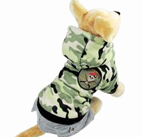Dogloveit Fleece Hoodie Stylish Camflauge Air-force Warm Jumpsuit Costume Winter Clothes For Dog - 5
