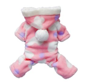 Pink Sweetie Dog Coat for Dog Clothes Dog Jumpsuit Soft Cozy Pet Clothes Pet Coat - 1