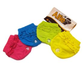 Alfie Pet Apparel - BAMI Diaper Dog Sanitary Pantie 4-Piece Set (for Girl Dogs) - 1