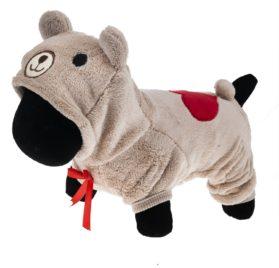 PetWell Pet Dog Bear Type Warm Fleece Hooded Coat Jumpsuit - 1