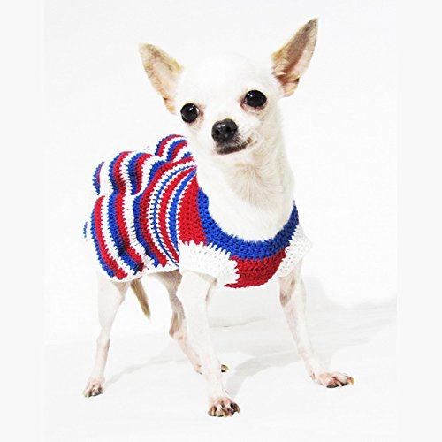 ... USA Patriotic Day Dog Costume 4th of July Chihuahua Dresses Pet Dog Clothes Handmade Dk950 Myknitt ...  sc 1 st  Chihuahua Kingdom & USA Patriotic Day Dog Costume 4th of July Chihuahua Dresses Pet Dog