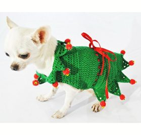 Peter Pan Dog Costume Cute Pet Clothing Disney Fairy Tale Chihuahua Dress Puppy Handmade Crochet Df32 By Myknitt - Free Shipping - 1