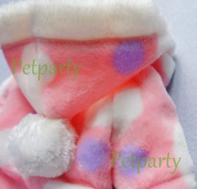 Pink Sweetie Dog Coat for Dog Clothes Dog Jumpsuit Soft Cozy Pet Clothes Pet Coat - 7