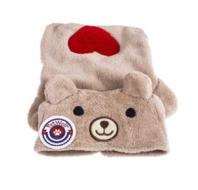 PetWell Pet Dog Bear Type Warm Fleece Hooded Coat Jumpsuit - 2