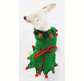 Peter Pan Dog Costume Cute Pet Clothing Disney Fairy Tale Chihuahua Dress Puppy Handmade Crochet Df32 By Myknitt - Free Shipping - 2