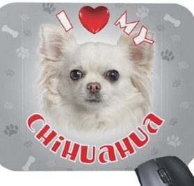 iLeesh i Love My Chihuahua Mouse Pad, White