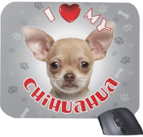 iLeesh i Love My Chihuahua Mouse Pad, Cream