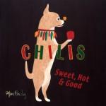 Blue Fox Chihuahua Choice Wood Plaque