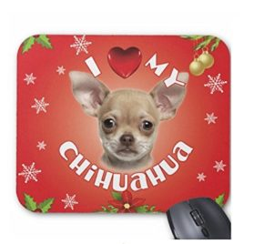 iLeesh I Love My Chihuahua Christmas Mouse Pad