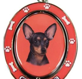 "Chihuahua, Black and Tan Key Chain ""Spinning Pet Key Chains""Double Sided Spinning Center With Chihuahuas Face Made Of Heavy Quality Metal Unique Stylish Chihuahua Gifts"