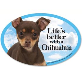 Prismatix Decal Cat and Dog Magnets, Chihuahua