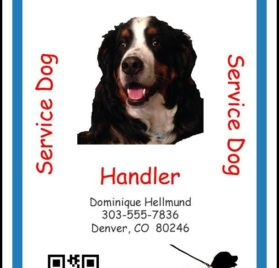 Personalized Service Animal ID Card with Online Registration
