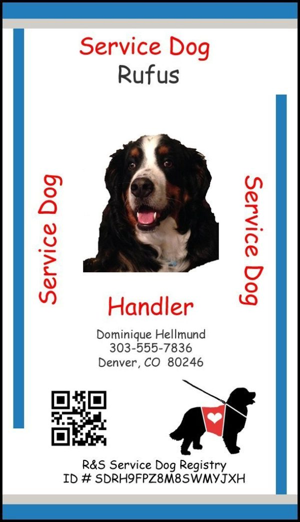 Service Dog Id Card - The Best Dog 2018