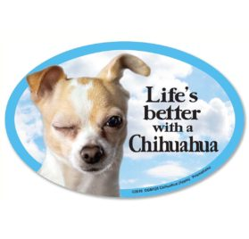 Prismatix Decal Cat and Dog Magnets, Chihuahua Apple
