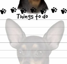 """Chihuahua Magnetic List Pads"" Uniquely Shaped Sticky Notepad Measures 8.5 by 3.5 Inches"