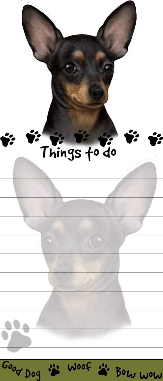 """""""Chihuahua Magnetic List Pads"""" Uniquely Shaped Sticky Notepad Measures 8.5 by 3.5 Inches"""