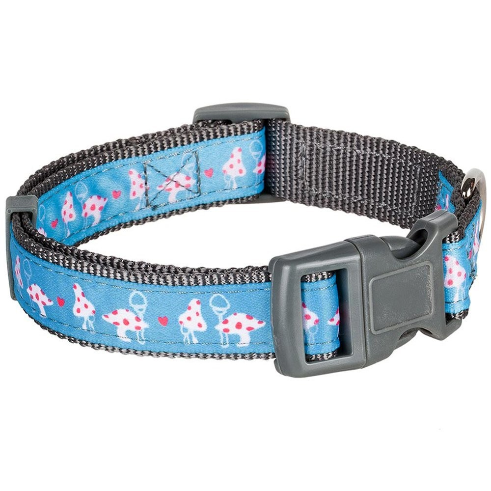 Home collars blueberry pet dog collar nautical flags inspired -  Blueberry Pet Vibrant Triangle Floral Garden And Mushroom Pattern Dog Collar 2