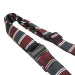 Alfie Pet by Petoga Couture - Qun Formal Dog Tie and Adjustable Collar Single - Red and Navy Stripe 4