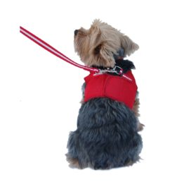 Anima Red Mesh Jersey with Red Trim Harness and Leash Set, X-Small