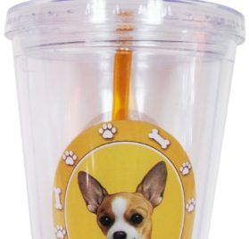 New Chihuahua Insulated 16 Oz Tumbler Double Walled Insulated NIB Screw on Lid