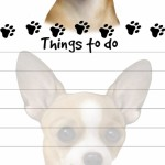"""""""Chihuahua Magnetic List Pads"""" Uniquely Shaped Sticky Notepad"""