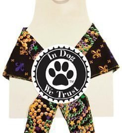 In Dog We Trust Fleurdele Bandana, X-Small, Black