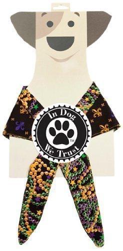 In Dog We Trust Fleurdele Bandana, X-Small, Black