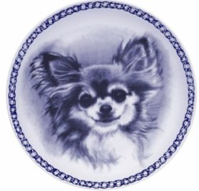 Chihuahua - Long Coat Lekven Design Dog Plate 19.5 cm /7.61 inches