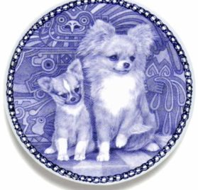 Chihuahua - Long Coat Lekven Design Dog Plate