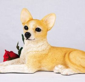 Chihuahua Shorthair Cremation Pet Urn for secure installation of your beloved pet's ashes indoors or outdoors