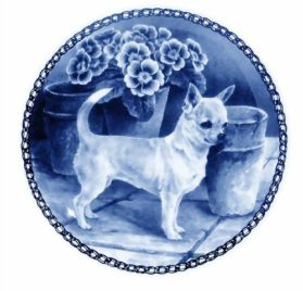 Chihuahua - Smooth Coat /- Lekven Design Dog Plate 19.5 cm /7.61 inches Made in Denmark
