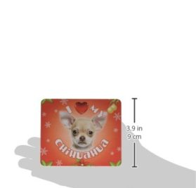 iLeesh I Love My Chihuahua Christmas Mouse Pad 2