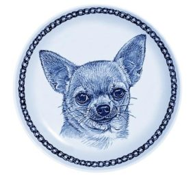 Chihuahua - Smooth Coat Lekven Design Dog Plate 19.5 cm /7.61 inches