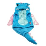 Alfie Couture Designer Pet Apparel - Smokie the Dragon Dinosaur Costume Blue 7