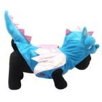 Alfie Couture Designer Pet Apparel - Smokie the Dragon Dinosaur Costume Blue 9