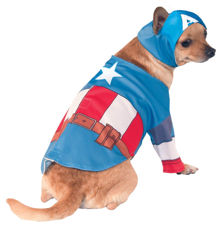 sc 1 st  Chihuahua Kingdom & Captain America Halloween Dog Costume - Chihuahua Kingdom