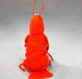 Casual Canine Lobster Paws Dog Costume, X-Small (fits lengths up to 8), Red-Orange 2