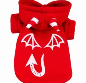 Chiqpets Halloween Costumes Dog Clothes Little Demon Cotumes Pet Clothing for Small Medium Dogs Cats